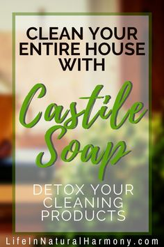 Nov 12, 2019 - Use castile soap to replace your toxic chemical household cleaners with a nontoxic, biodegradable, effective cleaning option. Natural Cleaning Solutions, Natural Cleaning Recipes, Natural Cleaning Products, Castile Soap Uses, Castile Soap Recipes, Natural Air Freshener, Chemical Free Cleaning, Goat Milk Soap, Biodegradable Products