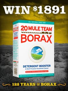 Repin if you'd like to WIN $1,891 from 20 Mule Team Borax! #sweepstakes