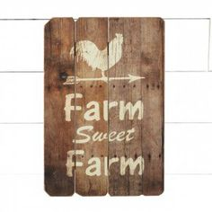 "Rooster ""Farm Sweet Farm"" Barn Ar"