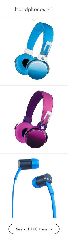 """""""Headphones #1"""" by issis9 ❤ liked on Polyvore featuring accessories, tech accessories, blue headphones, pink headphones, iphone headphones, apple iphone headphones, headphones, folding headphones, purple headphones and skullcandy headphones"""