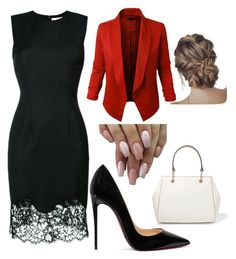"""Untitled #115"" by caitlinacker on Polyvore featuring Givenchy, LE3NO, Christian Louboutin and DKNY"