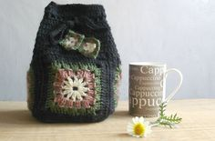 Items similar to Crochet bag pattern, crochet drawstring bag, Granny drawstring bag, Pattern No. 8 on Etsy Crochet Drawstring Bag, Drawstring Bag Pattern, Crochet Tote, Knit Or Crochet, Crochet Hooks, Crochet Granny, Crochet Baby Clothes Boy, Granny Square Bag, Granny Squares