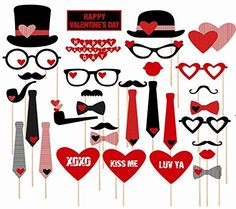 China Lin 31 Tlg. Party Foto Verkleidung Schnurrbart Lippen Brille Krawatte Hüten Photo Booth Props Set Hochzeit Partymitbringsel China Lin http://www.amazon.de/dp/B00K0L7YI0/ref=cm_sw_r_pi_dp_YXzhvb0T67QX1