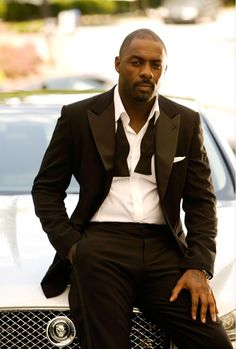 Mr. Elba in a tux...The mind races.