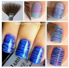 Streaked nails
