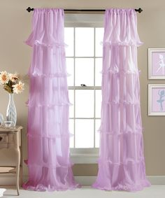 Look at this Lavender Nerina Curtain Panel on #zulily today!