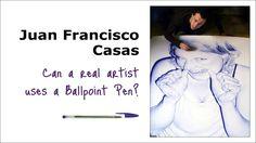 Juan Francisco Casas dibujos hechos con bolígrafo