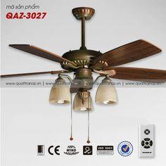 Quạt trần đèn trang trí cao cấp Mountain Air QAZ-3027