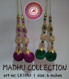 Indian Outfits, Indian Clothes, Diy And Crafts, Arts And Crafts, Saree Tassels, Quilling Earrings, India Colors, Thread Jewellery, Silk Thread