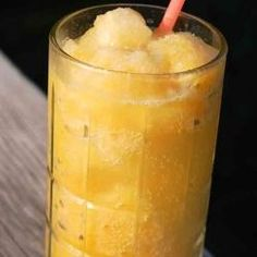 Bourbon Slush - this delicious drink is easy to throw together the day before, and instantly ready to serve for the big game!