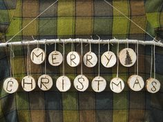Merry Christmas wood wall hanger $25