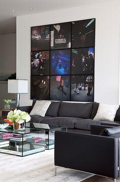 Composição com fotografias colocadas sem espaço entre si para formar um conjunto.