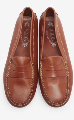 Tods Burnt Orange Loafer | VAUNTE