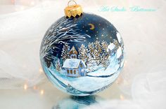 CHRISTMAS ORNAMENT WINTER by Bettineum on Etsy, $30.00
