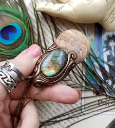 Sekhmet  Picture Jasper & Labradorite Crystal by LunaBlueBoutique