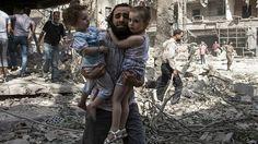Civiles en Siria Los bombardeos también han causado víctimas civiles.