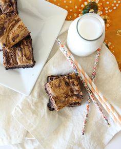 Peanut Butter Brownies {Gluten Free & Vegan}