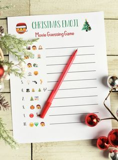 christmas party Fun Christmas Party Games: Print and play this emoji guessing game. 3 versions to try-guess the Christmas song or movie (and a kids version) just from the emojis you see! Great Christmas party game for groups. Emoji Christmas, Christmas Movie Night, Christmas Bingo, Simple Christmas, Kids Christmas, Merry Christmas, Christmas Parties, Christmas Crafts, Christmas Puzzle