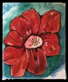 Flower. Painting