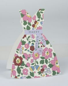 mothers day card made with wrapping paper   How to make a Mother's Day 'dress' card   Woman's Weekly