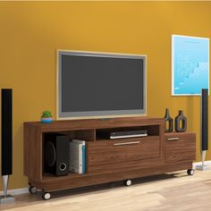 Tv Rack, Diy Tv Stand, Living Room Tv, Tv Stands, Shelves, Architecture, Furniture, Design, Home Decor