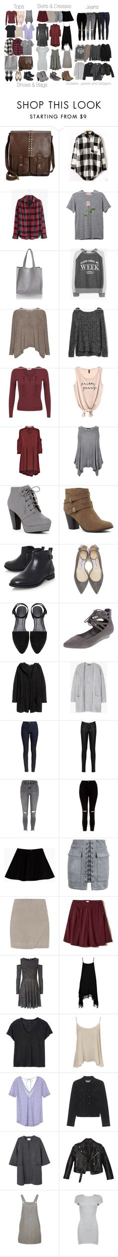 """""""Stefan Inspired Essentials"""" by fangsandfashion ❤ liked on Polyvore featuring Patricia Nash, Madewell, MANGO, Gap, Miss Selfridge, Boohoo, H&M, Jimmy Choo, Barbour and WearAll"""