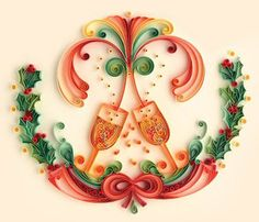 christmas and new year eve quilling patterns