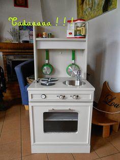 P'tite Poulette: Upcycling #1 : La table de chevet devenue cuisine