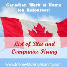 Work at Home Jobs for Canadians | Extra money, Extra cash and Work ...