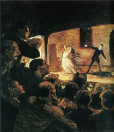 Theater by Honore Daumier