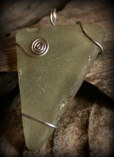 sea glass. make into necklace.