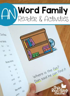 AN Word Family Reader and Activities - FREE - This Reading Mama