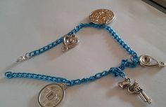 Cavigliera catena blu, by Silvia jewellery of style, 6,00 € su misshobby.com