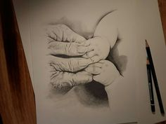 Handsdawing oldandyoung mystical drawing drawingpictur blackandgrey schwarzweiß beauty time pencildrawing art artist instagram franzi_herm tattoo oldhands younghands time