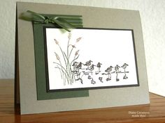 "By Diane Cavaness. Uses stamps from Stampin' Up's ""Wetlands"" set."