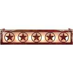 Lonestar western light fixture westerns star and lights the texas star vanity is a wonderful addition to a ranch house bathroom decor circle aloadofball Image collections