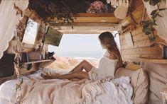 School Bus Tiny House, Van Bed, Van Interior, Interior Design, Van Home, Bus Life, Van Living, Camper Renovation, Camping Life