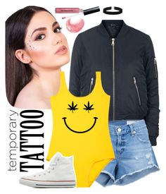 """""""GomezTemporaryTattoo"""" by gomezel ❤ liked on Polyvore featuring beauty, Topshop, rag & bone/JEAN, Converse, ASOS and Bobbi Brown Cosmetics"""