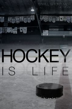 Hockey Is Life I posted the same wallpaper a little earlier for the iPhone but here's the version for the iPhone Hockey Girls, Hockey Mom, Field Hockey, Hockey Stuff, Ducks Hockey, Boys, Hockey Posters, Hockey Quotes, Blackhawks Hockey