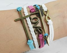 coss bracelets personalized bracelets love by lifesunshine on Etsy, $7.99