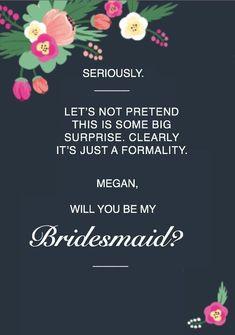 Will You Be My Bridesmaid | Bridesmaid Card | Bridesmaid | Bridesmaids | Bridesmaid Proposal