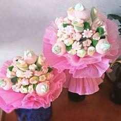 Bouquet di marshmallows per bambine.