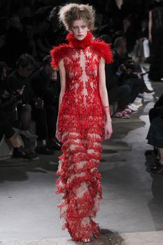 Alexander McQueen Red Dress Paris Fashion Week 2015 - Google Search