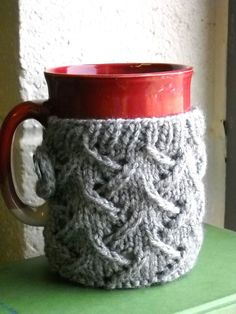 Free Knitting PatternS - Cozies: Spring Wind Mug Sweater (LOTS OF DIFFERENT COZIES PATTERNS)