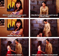 """Nick & Jess // New Girl """"What were you doing?!"""""""