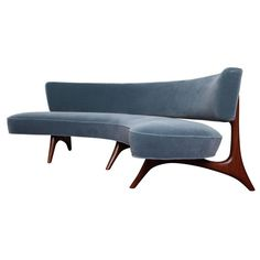 Rare Curved Sofa by Vladimir Kagan | From a unique collection of antique and modern sofas at https://www.1stdibs.com/furniture/seating/sofas/