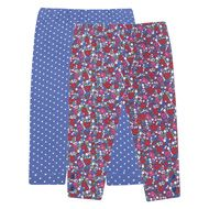 2-Pack Girls' Polka Dot & Floral Leggings D2961