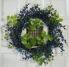 "24"" Blue Berry Wreath V-Max Floral Decor http://www.amazon.com/dp/B012EJH458/ref=cm_sw_r_pi_dp_LKB2wb1ECKXCE"