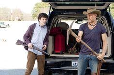 Woody Harrelson and Jesse Eisenberg in Zombieland Bill Murray, Apocalypse Survival, Zombie Apocalypse, Zombie Weapons, Emma Stone, Amber Heard, Zombieland Movie, Good Comedy Movies, Netflix Movies