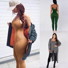 2017 ניו נשים סרבלי Rompers סרבל נשים ללא שרוולים מקרית Bodycon מועדון תלבש Slim מוצק סרבל נקבה & 03